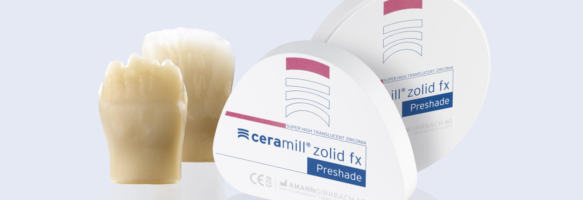 Ceramill Zolid FX Preshades