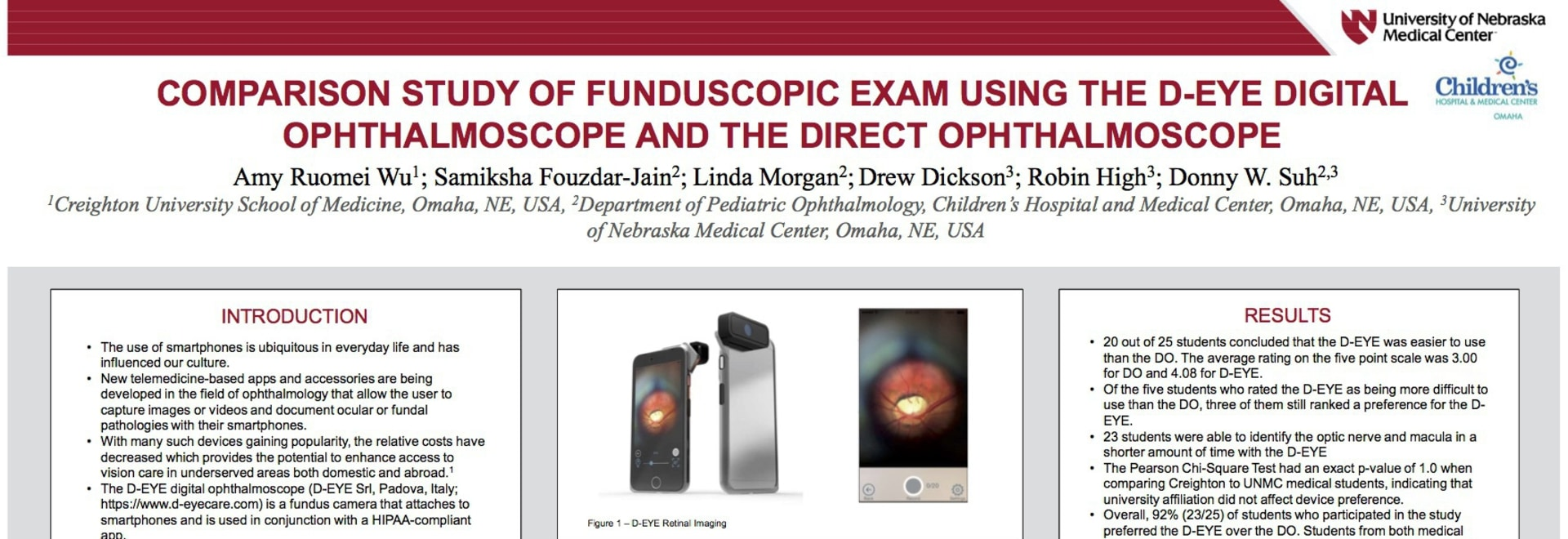 Comparison Study of Fundoscopic Exam Using the D-EYE Digital Ophthalmoscope and the Direct Ophthalmoscope