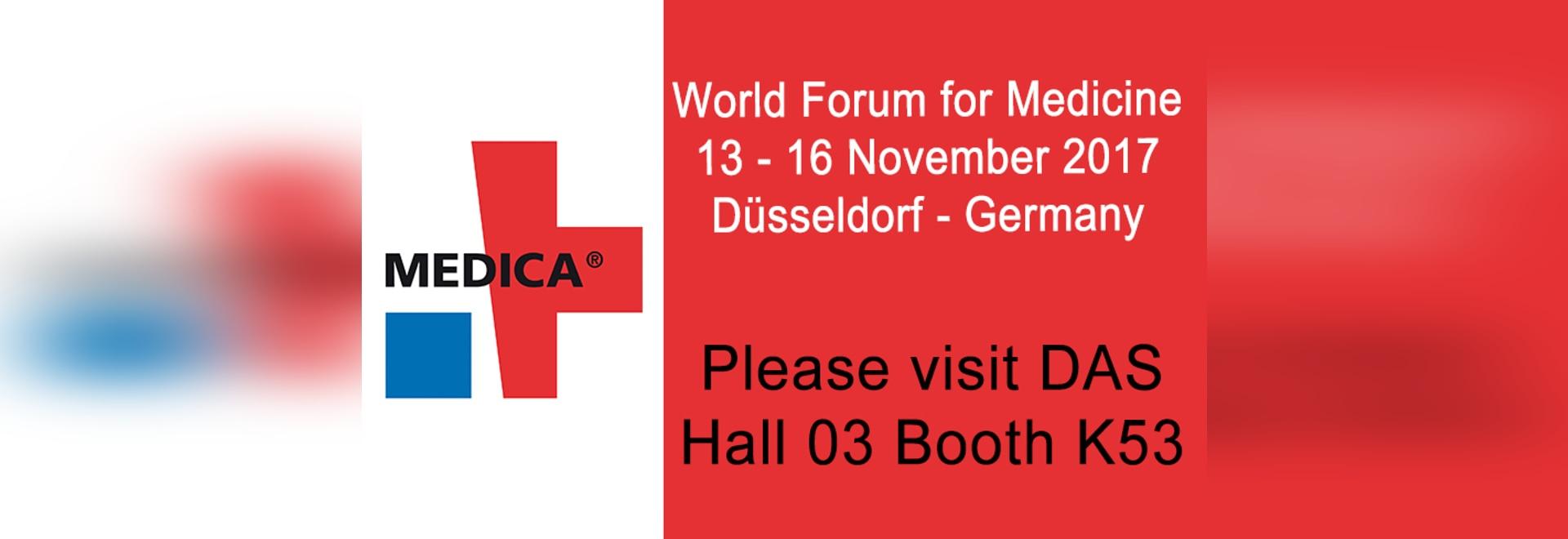 DAS exhibits at Medica Trade Show
