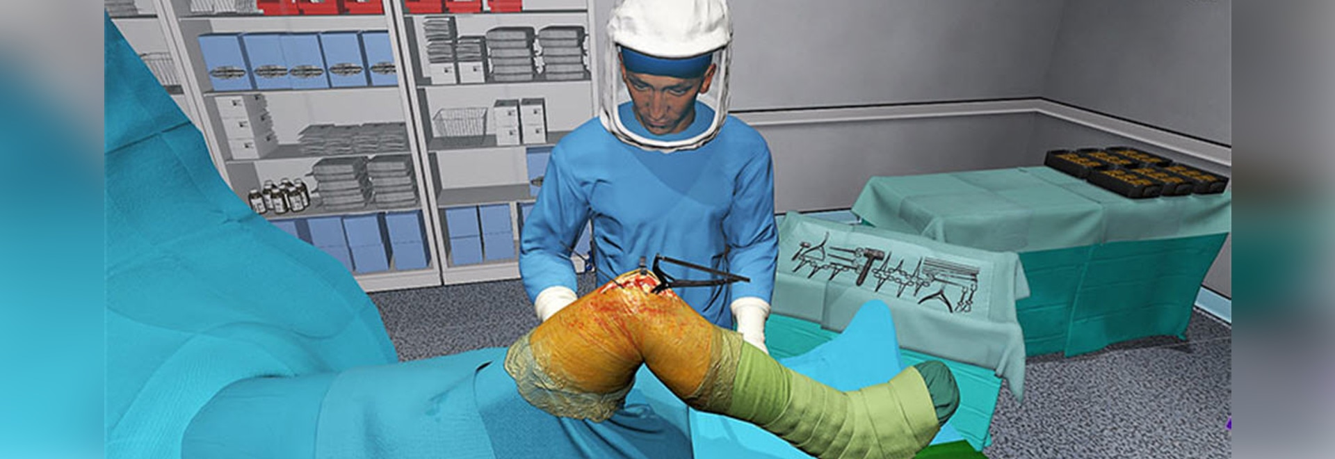 Knee Anesthetic Injection Virtual Reality Trainer Featured At AAHKS