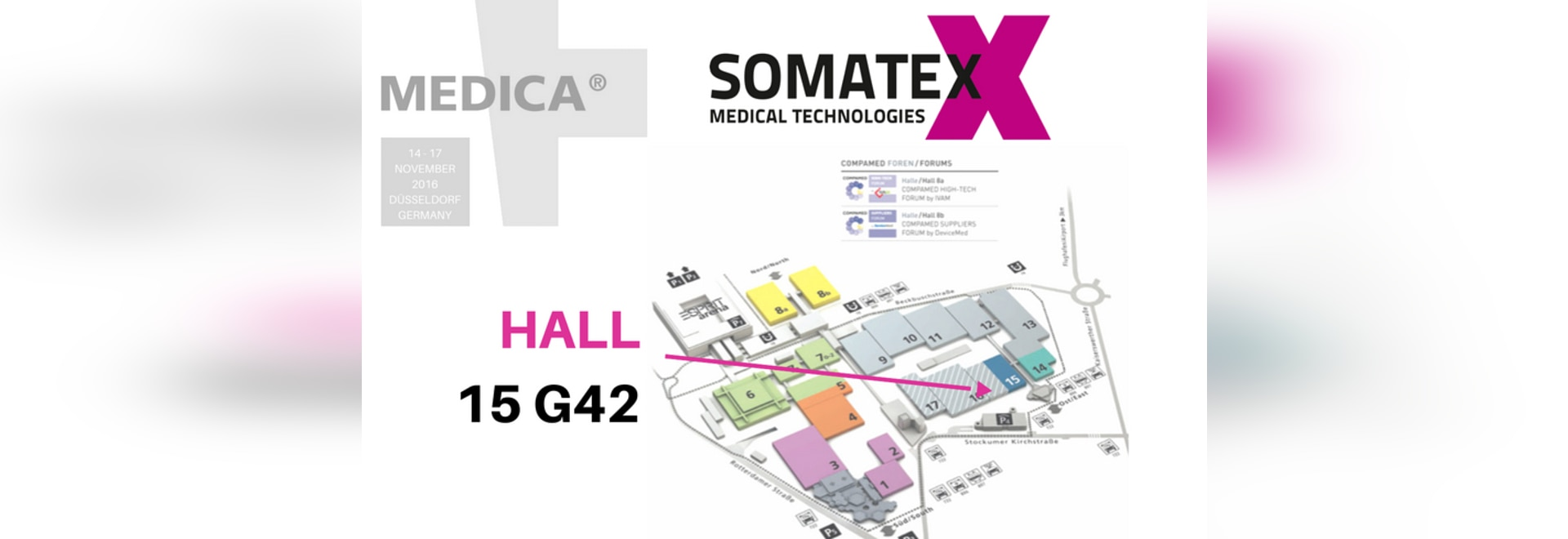 MEDICA 2016 Somatex Hall 15 / Booth G42