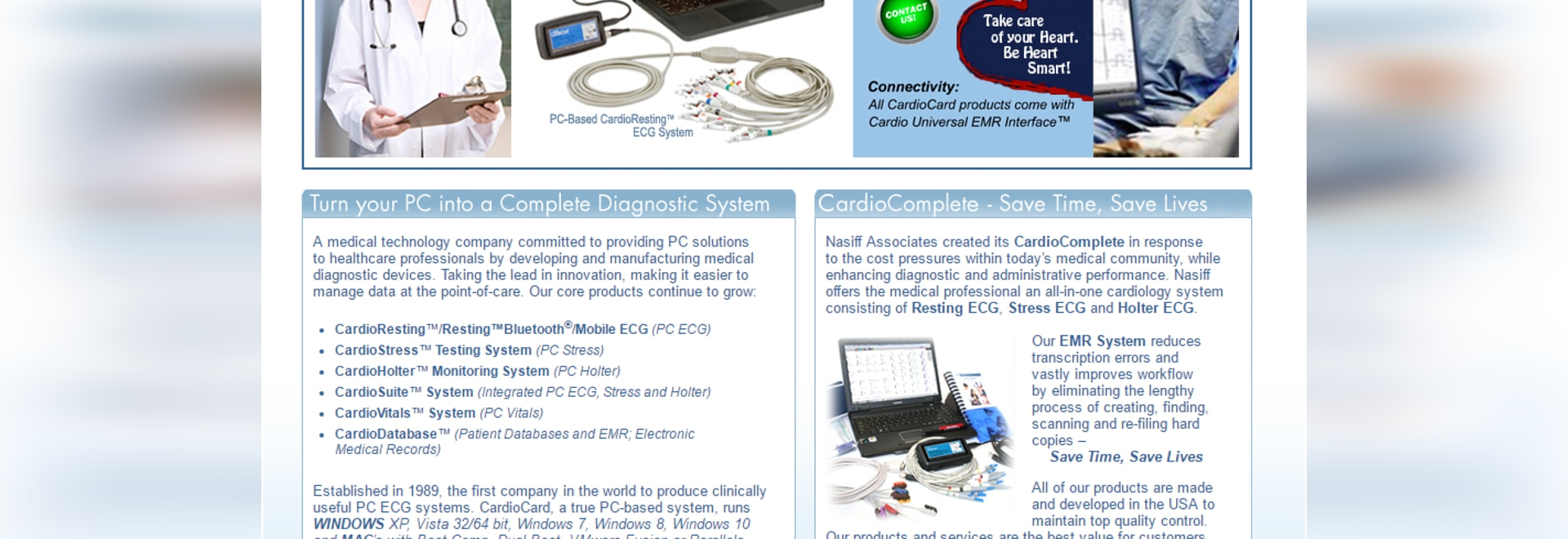 Nasiff CardioCard PC Based Cardiology Devices!