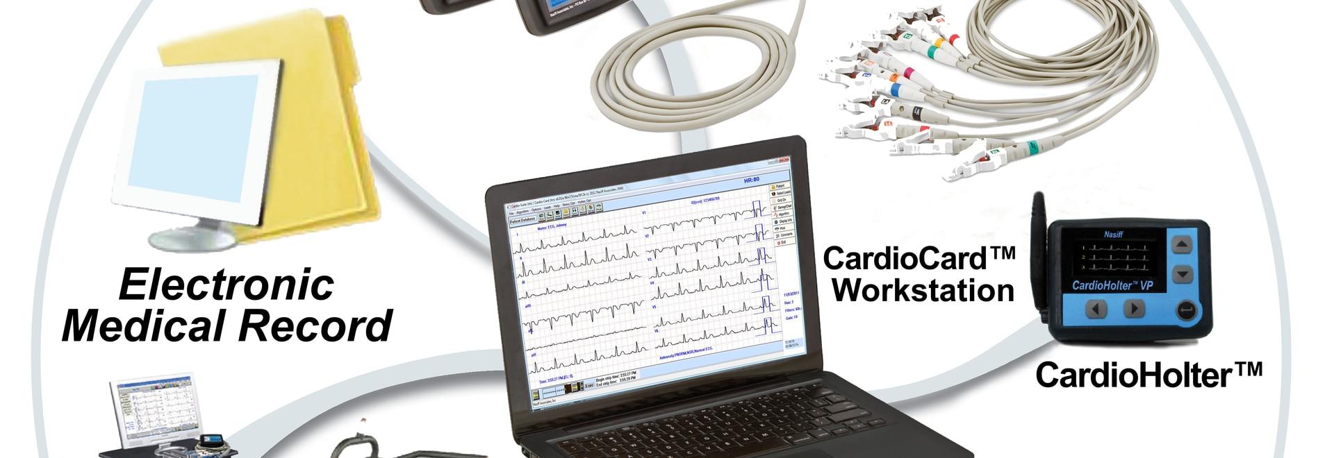 Nasiff CardioCard Universal EMR Interface™ Database System: PC Based ECG System