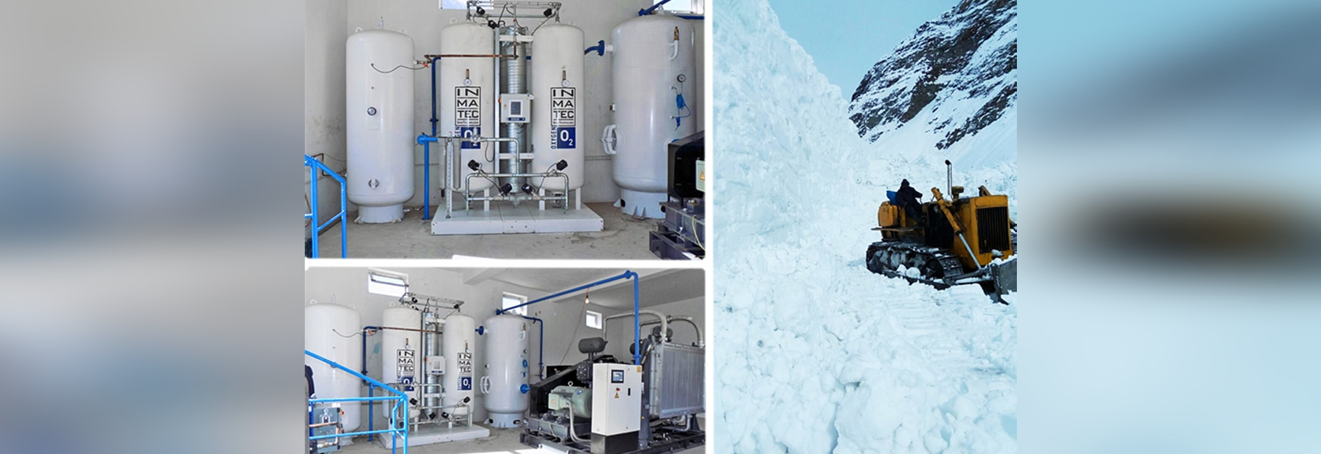 Oxygen supplies in hospitals or clinics located in inaccessible areas is a challenge.