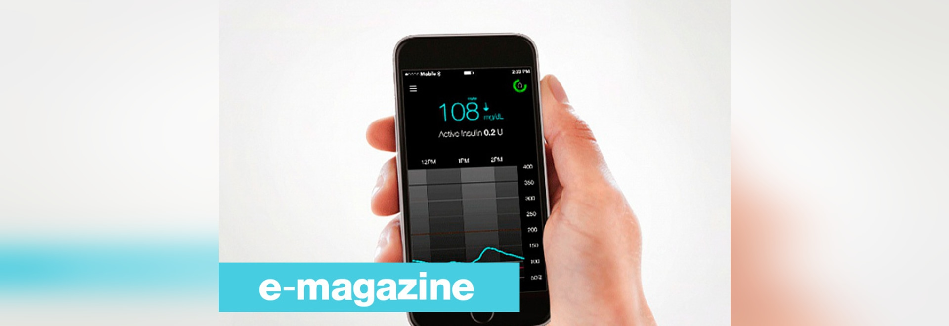 Patient's diabetes data directly viewable on a smartphone