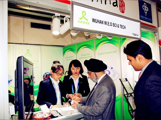 Wuhan W.E.O exhibited its high-precision medical filters and functional medical supplies