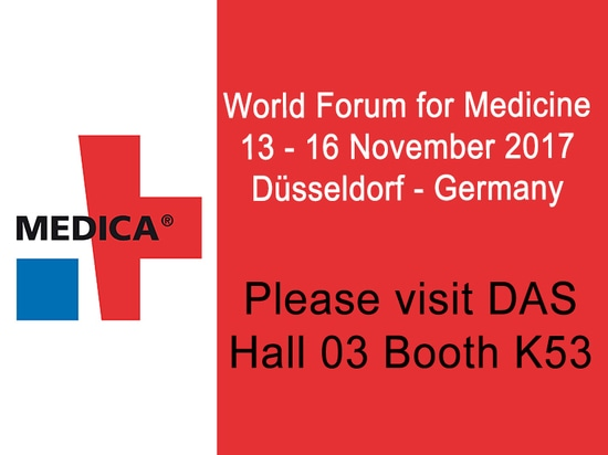 DAS exhibits at Medica Trade Show