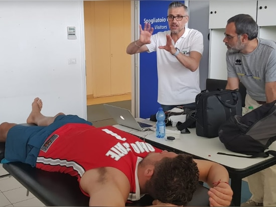 Our MyBodyTest expert with doctor Federico Cioni, the Zebre's nutritionist