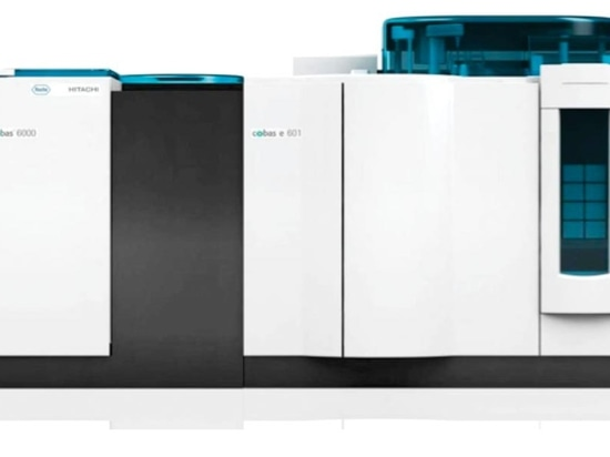The Cobas 6000 analyzer series for clinical chemistry and immunochemistry assays (Photo courtesy of Roche Diagnostics).
