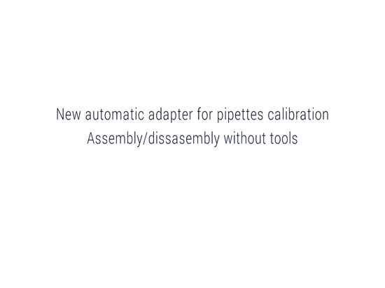 AXA11 AUTOMATIC PIPETTES CALIBRATION ADAPTER