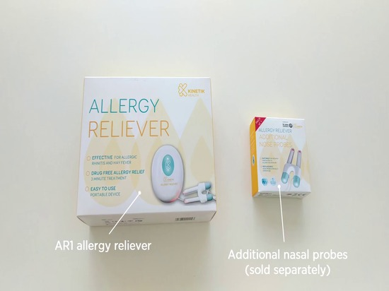 Allergy Relievers with Replaceable Nose Probes