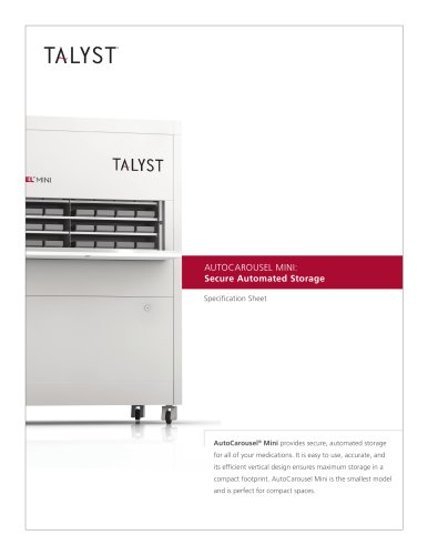 AUTOCAROUSEL MINI: Secure Automated Storage