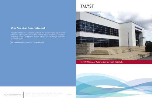 Talyst: Pharmacy Automation for Small Hospitals
