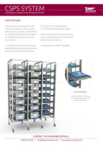 CSPS SYSTEM - CONTAINER / STERILE PACK STORAGE