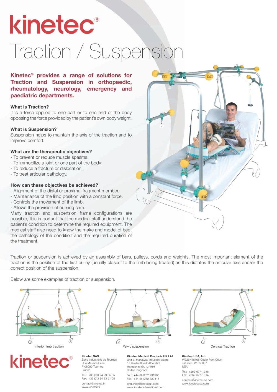 Traction / Suspension - Kinetec - PDF Catalogue | Technical ...