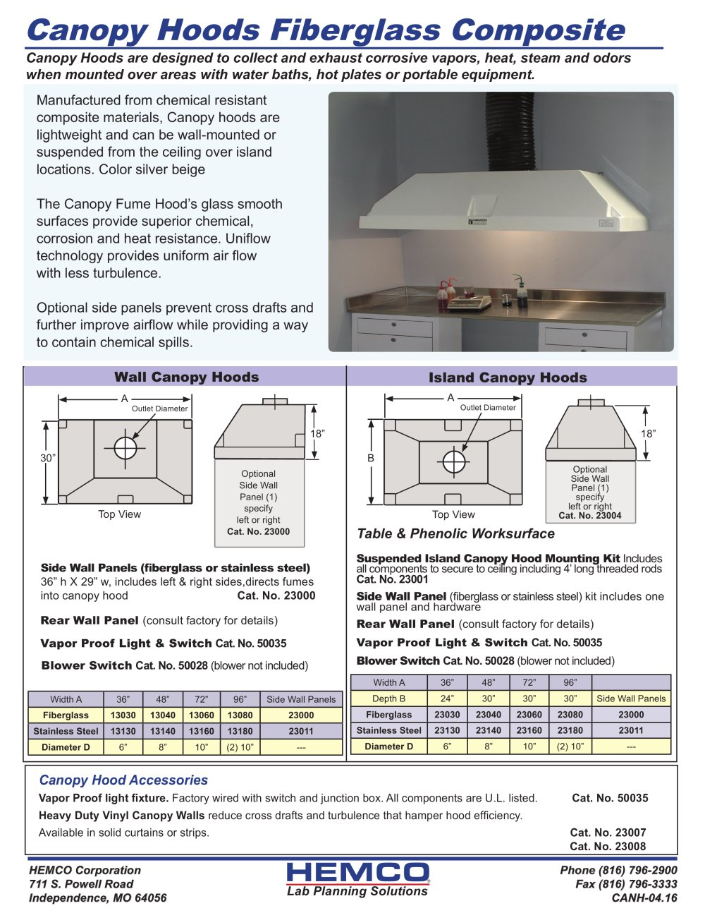 Canopy Hoods - 1 / 2 Pages  sc 1 st  Catalogs Medicalexpo & Canopy Hoods - HEMCO - PDF Catalogs | Technical Documentation