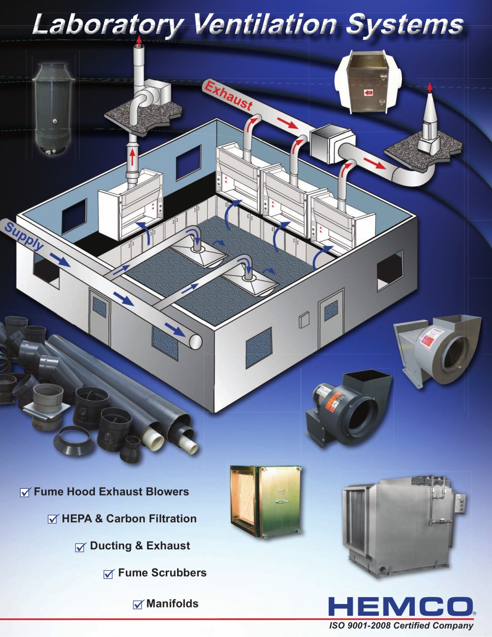 laboratory ventilation systems - hemco - pdf catalogue | technical