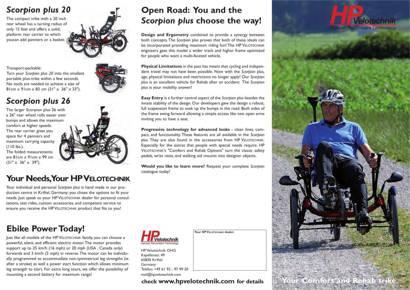 Scorpion Plus Rehab Brochure 2016 Hp Velotechnik Ohg Pdf