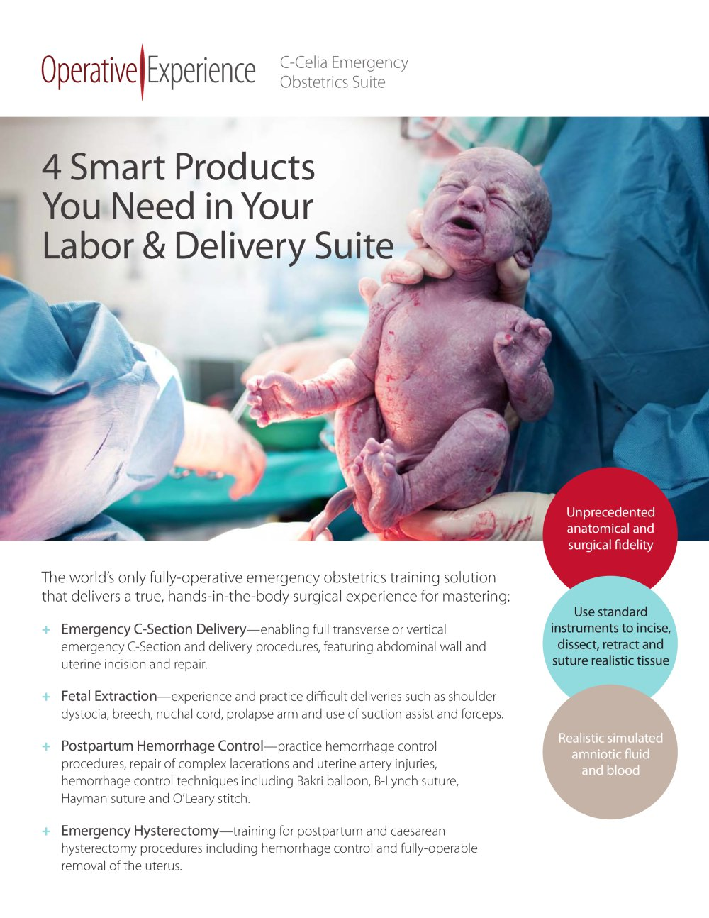 C-Celia™ Emergency Obstetrics Suite - Operative Experience Inc ...