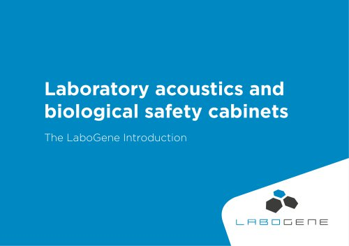Laboratory acoustics and biological safety cabinets