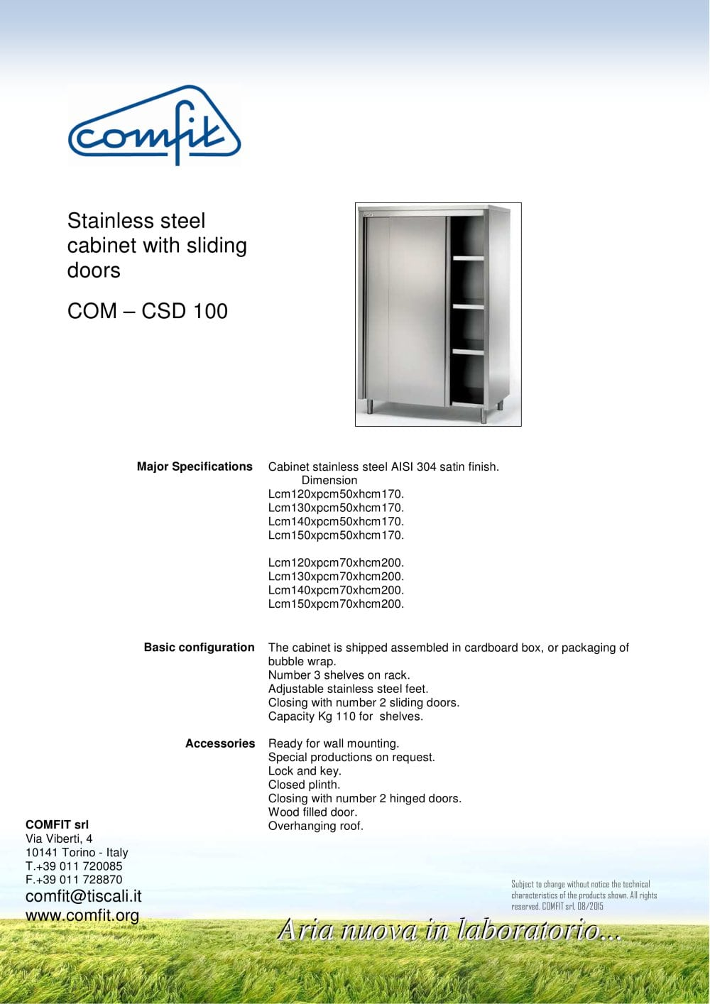 Stainless Steel Cabinet With Sliding Doors   1 / 1 Pages