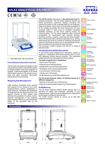 AS.X2 ANALYTICAL BALANCES