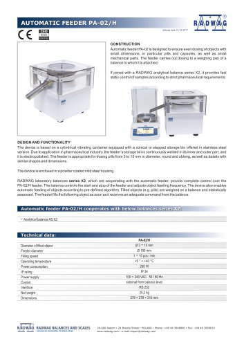 AUTOMATIC FEEDER PA-02/H