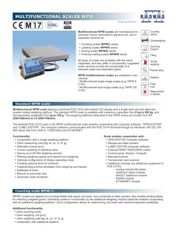 MULTIFUNCTIONAL SCALES WPW