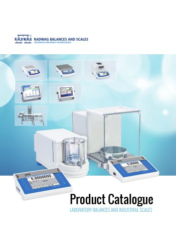 RADWAG PRODUCT CATALOGUE