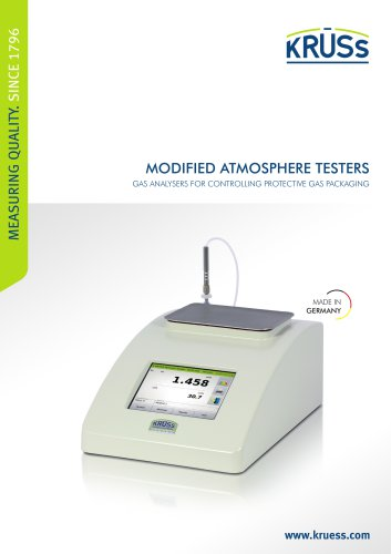 Gas Analyzers - Modified Atmosphere Testers