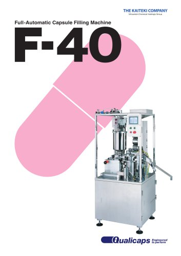 F-40 Fully-Automatic Capsule Filling Machine
