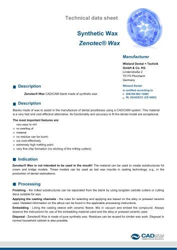 Synthetic Wax  Zenotec® Wax