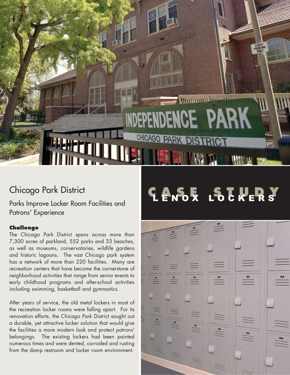 Plastic Lockers Chicago Park District Chicago Il 1 2 Pages