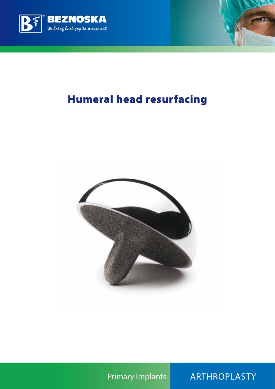Humeral Head Resurfacing Beznoska Pdf Catalogue Technical
