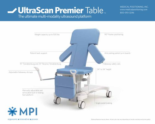 UltraScan Premier Table TM - MPI - Medical Positioning - PDF