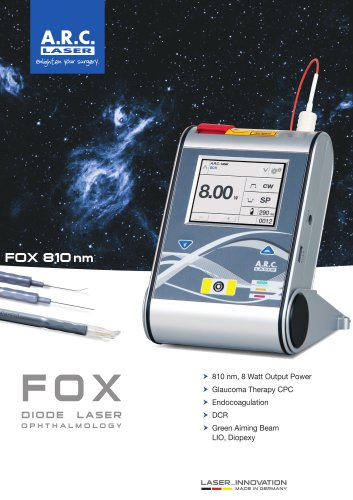 FOX Diode Laser for Ophthalmology