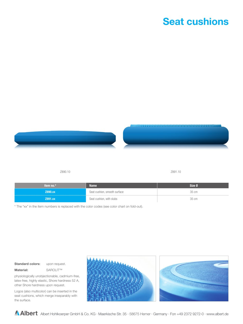 Seat cushions - 1 Pages