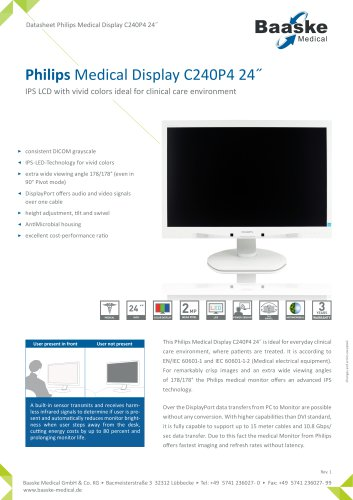 Philips Medical Display C240P4 24''