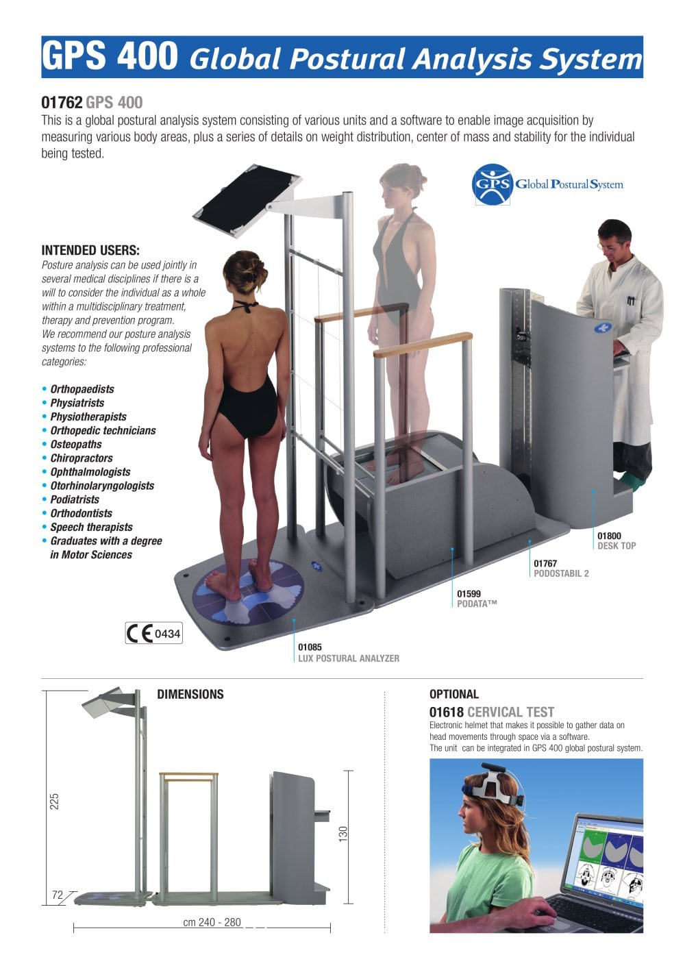 gps 400 global postural analysis system 1 2 pages