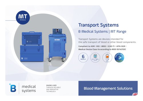 B Medical Systems Transport Systems