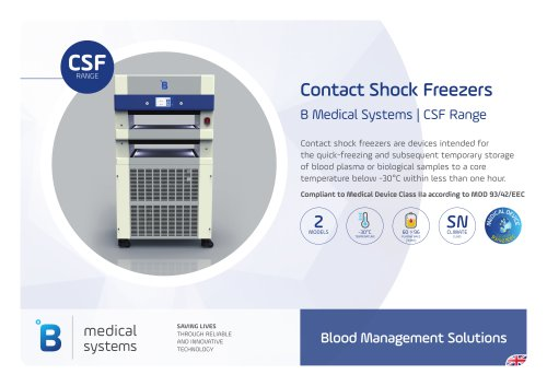 Contact Shock Freezers Range