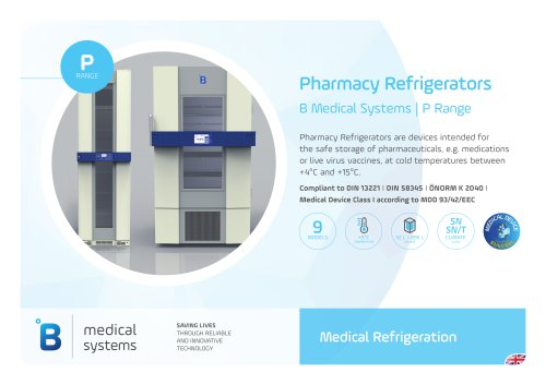 Pharmacy Refrigerators B Medical Systems | P Range