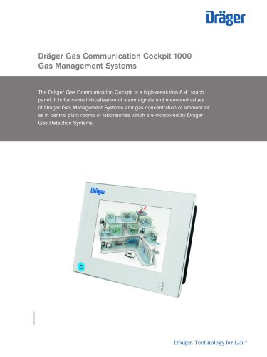 Dräger Gas Communication Cockpit 1000 Dräger Pdf Catalogue