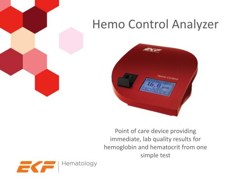 Hemo Control Analyzer - EKF Diagnostics - PDF Catalogs