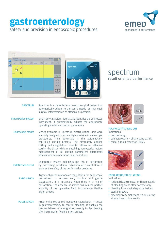 Spectrum - Gastroenterology - EMED - PDF Catalogue   Technical ... for Argon Spectrum  183qdu