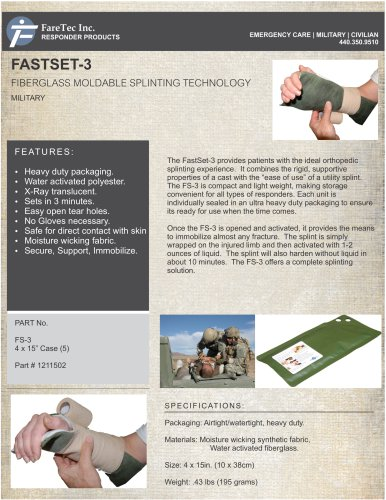 Fast Set-3 Moldable Utility Splint