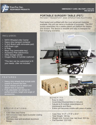 PORTABLE SURGERY TABLE (PST)