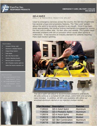 QD-4 Hare Traction Leg Splint
