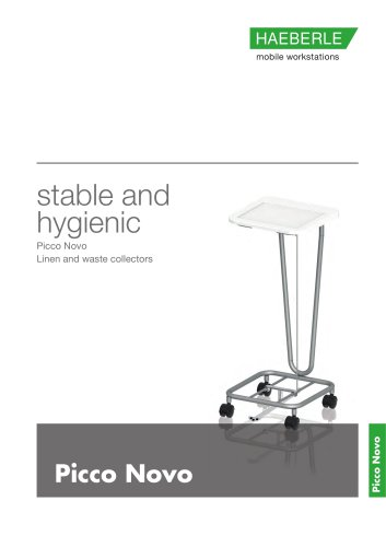 stable and hygienic Picco Novo Linen and waste collectors