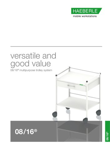versatile and good value 08/16® multipurpose trolley system